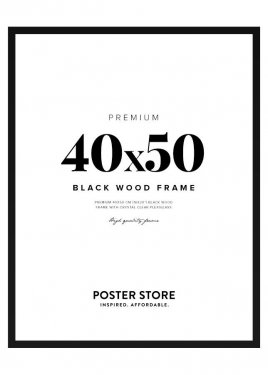 Black Wood Frame 40x50 cm