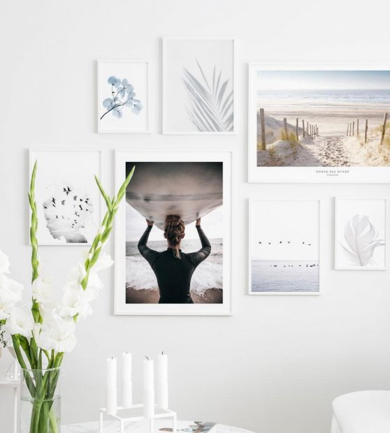 Gallery wall beautiful motifs inspired by beach sea