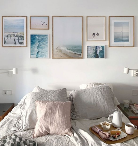 Beautiful gallery wall beach posters nature prints