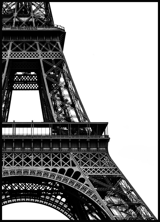 Eiffel Tower Close Up Poster