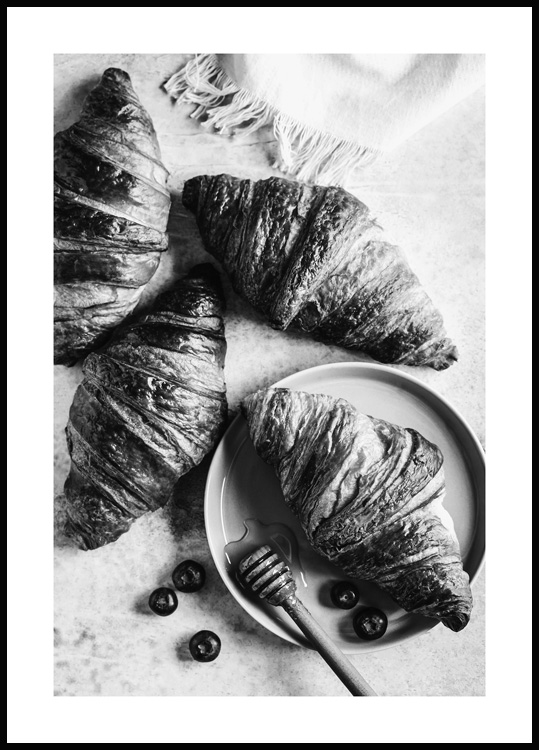 French Croissants Poster