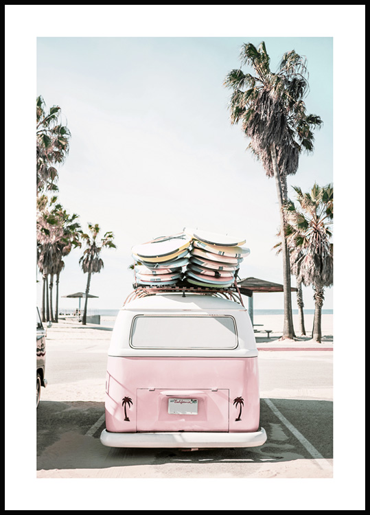 California Surf Van Poster