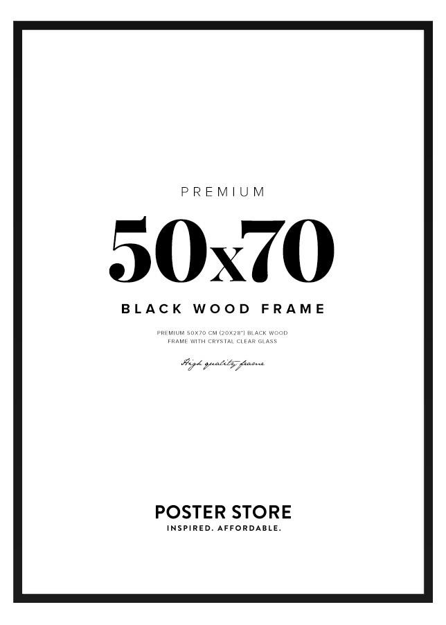 Black Wood Frame 50x70 cm